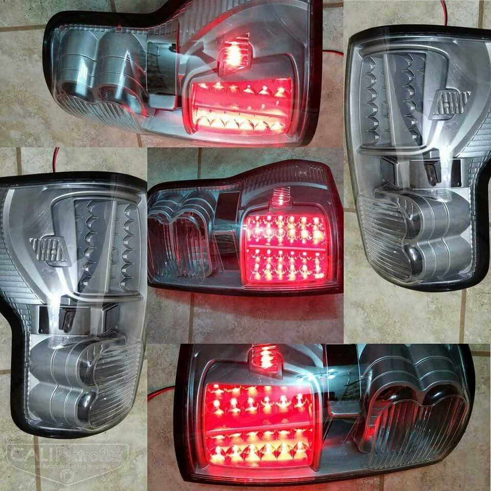 Color matched Toyota Tundra tail lights. Email sales@caliretrofits ...