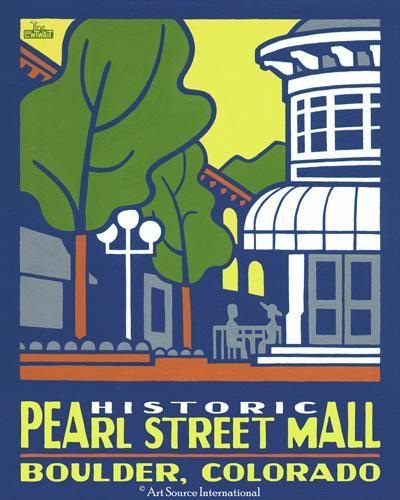 Historic Pearl Street Mall:  Art Source International showcasing Steve Lowtait #BoulderInn