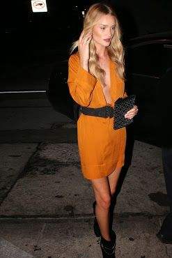 Rosie Huntington Whiteley with a dress by Isabel Marant