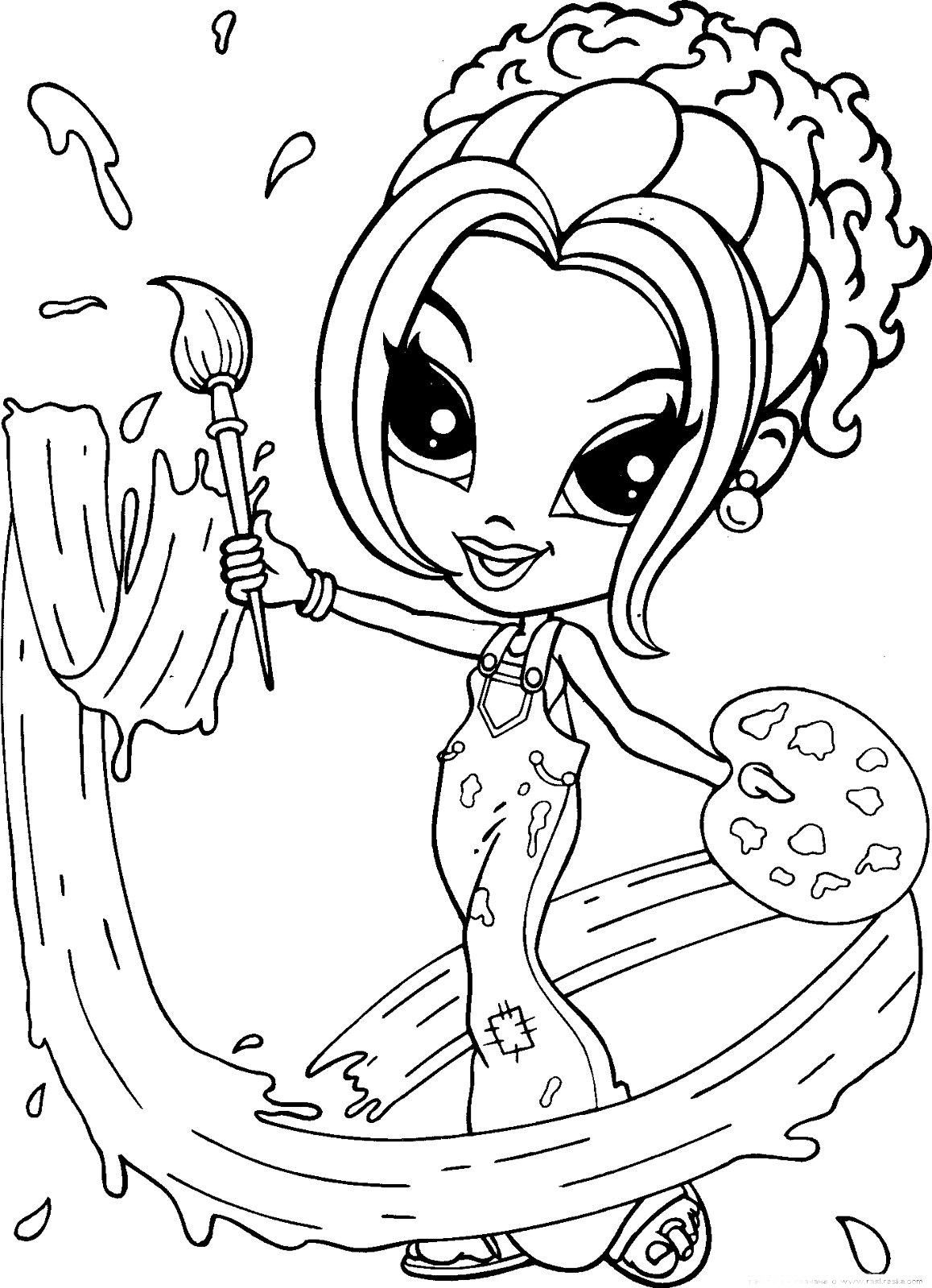 Paint pages to color online - Lisa Frank Coloring Pages To Download And Print For Free