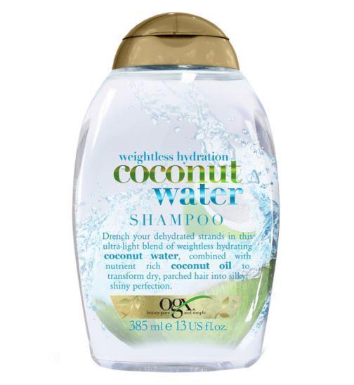 Ogx Weightless Hydration Coconut Water Shampoo Boots Coconut Water Shampoo Ogx Hair Products Shampoo Free