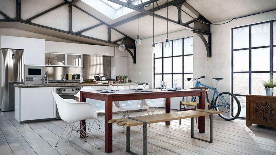 Beautiful Dining Room Industrial Interior Design Dining Room Modern Dining Room