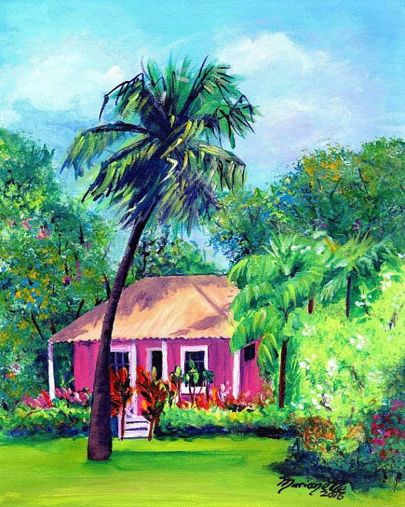 db22ba833746a3e353b3503e844f5cbd Painting Old Hawaiian Plantation House on old chinese house paintings, farm paintings, plantation homes acrylic canvas paintings, scenic country landscape paintings,