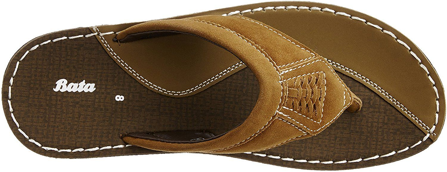 5c36429c0b Bata Men s Marc Brown Flip Flops Thong Sandals - 9 UK India (43 EU ...