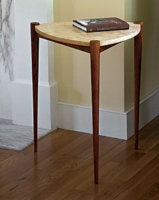 Elegant Triangle Side Table   Fine Woodworking Article