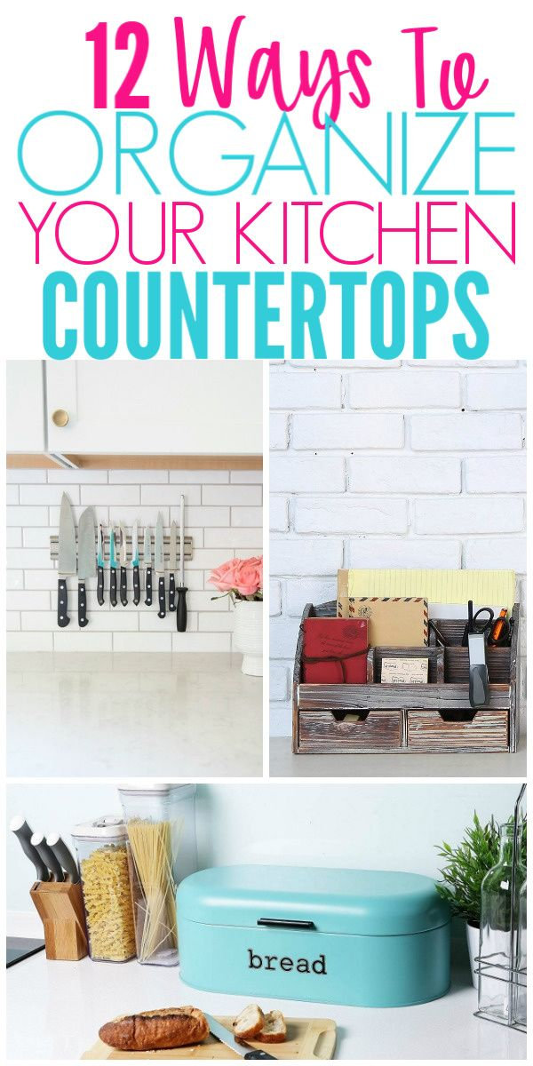 12 Ways To Organize Kitchen Countertops images