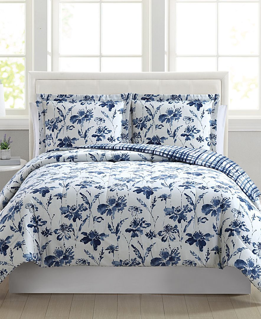 Pem America Maya 3 Pc Full Queen Comforter Set Created For Macy S Reviews Bed In A Bag Bed Bath Macy S Comforter Sets Queen Comforter Sets Twin Xl Bedding Sets