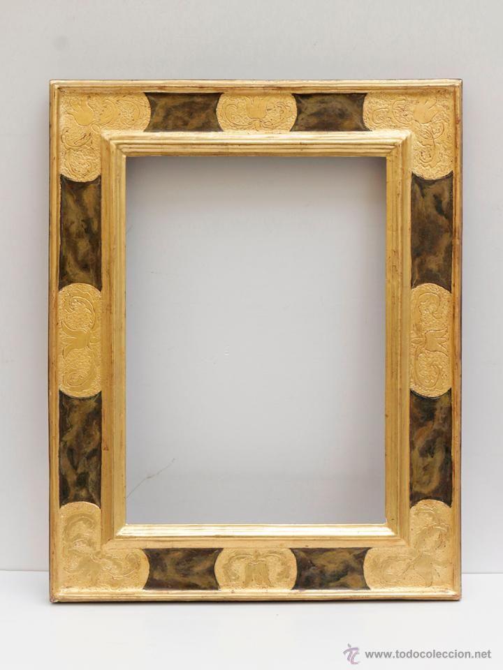 Maravilloso marco de madera al oro fino. 45,5 x 58 cm (ver fotos ...