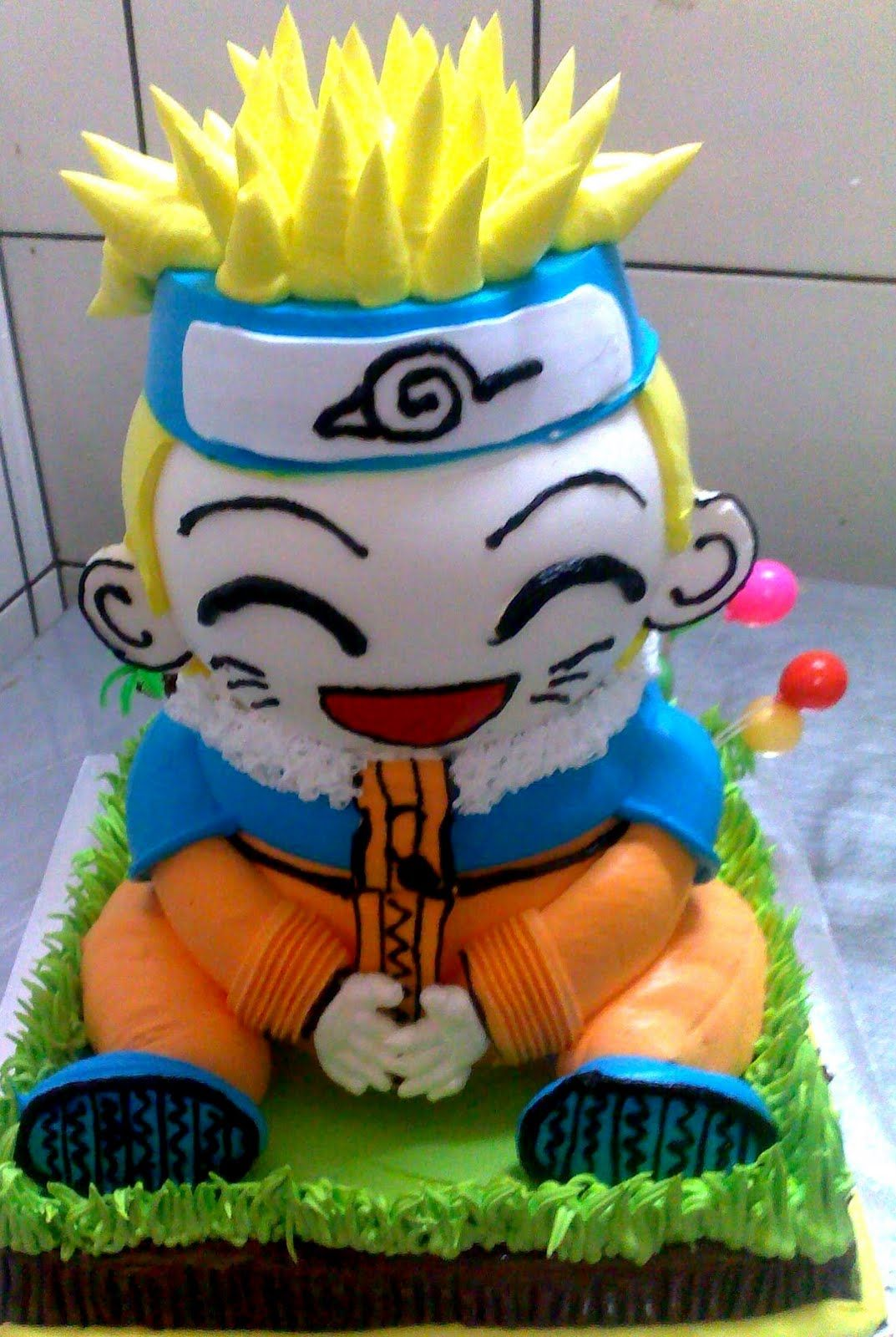Admirable Uzumaki Naruto 3D Birthday Cake With Images 3D Birthday Cake Funny Birthday Cards Online Inifodamsfinfo