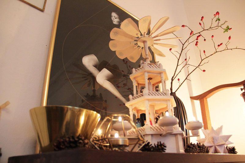 Weihnachtsdeko in Weiß und Gold mit einem frevelhaften DIY...   Deko ...