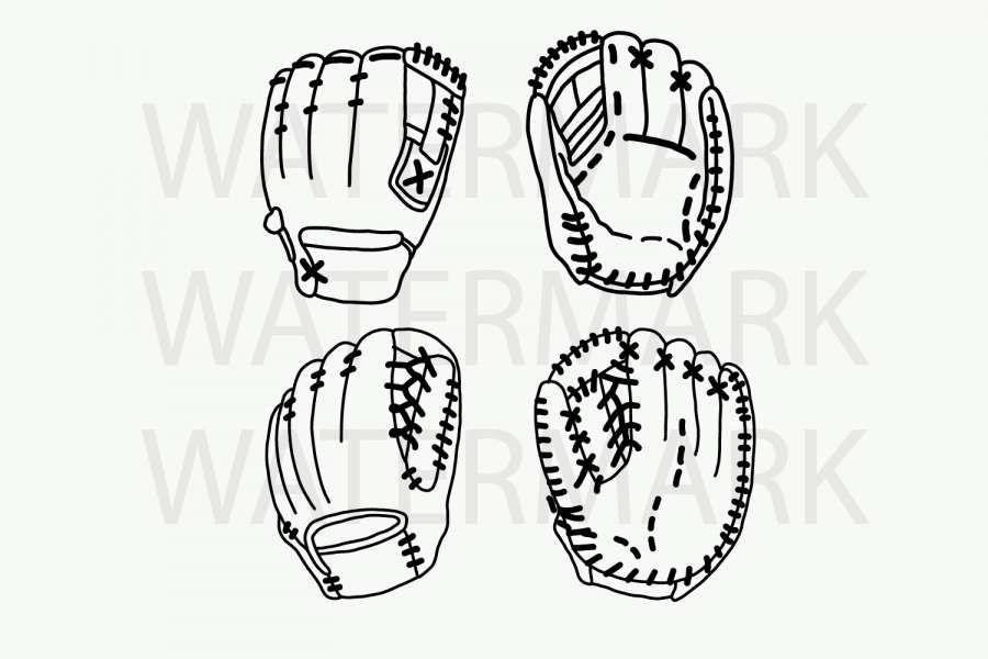 16 Baseball Glove Drawing Drawings Baseball Glove Ball Drawing