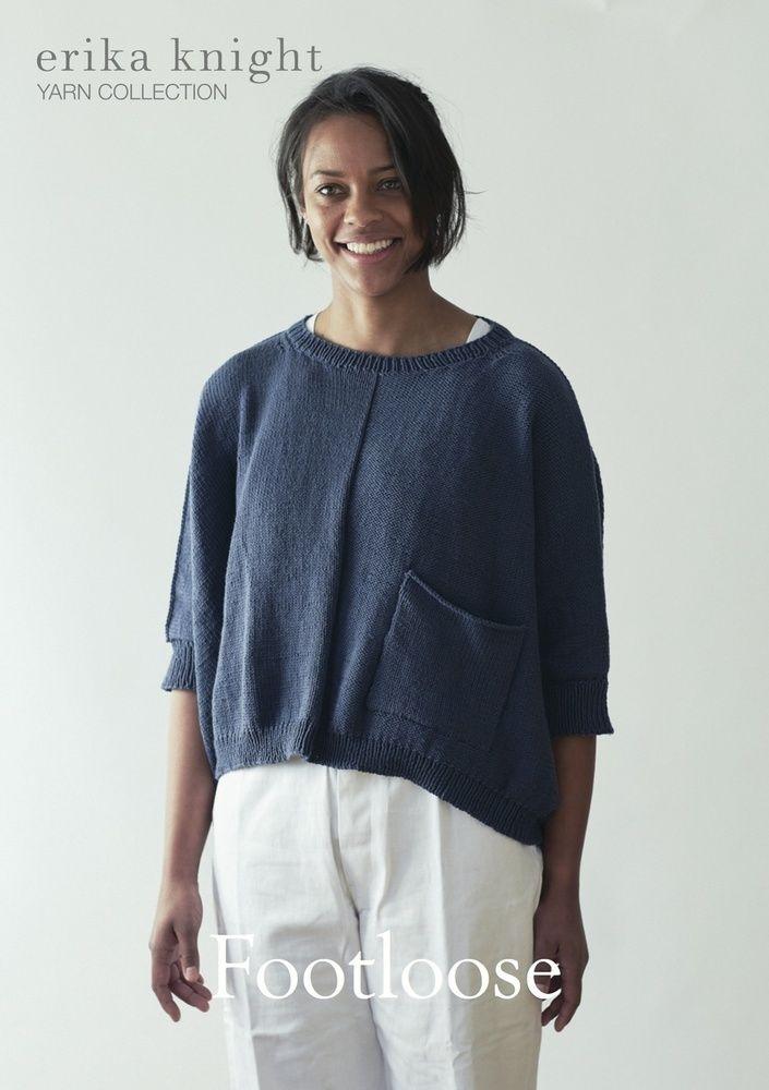 f99ec7b1a6ff Erika Knight Footloose Sweatshirt Knitting Pattern PDF