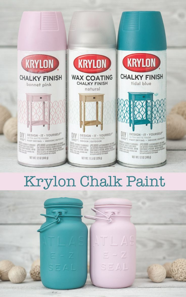 Spray painting furniture ideas - Get The Look Of Chalk Paint With Krylon Chalky Finish Spray Paints They Also Offer