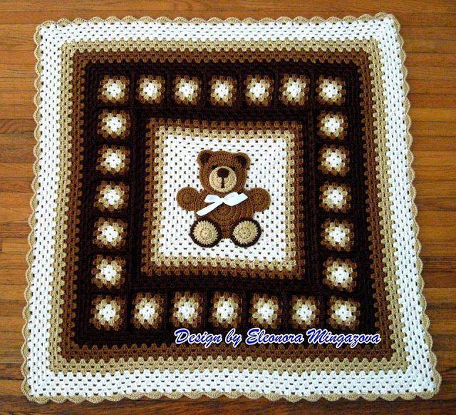 Patrón #1536: Manta Osito a Crochet   CTejidas [Crochet y Dos Agujas ...