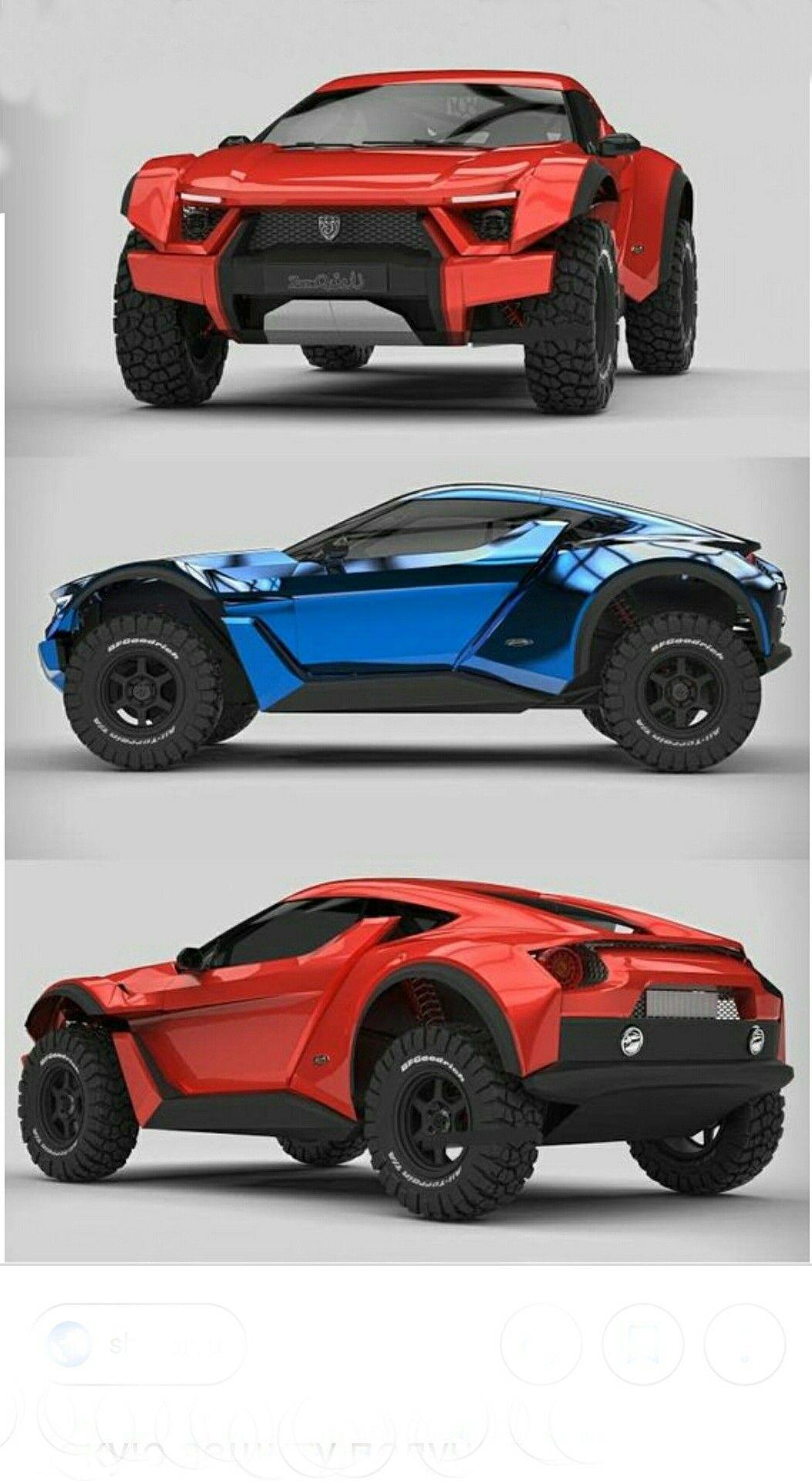 Zarooq Sand Racer 500hp V6 Engine 1179kg 315mm Ground Clearance Futuristic Cars Super Cars Concept Car Design