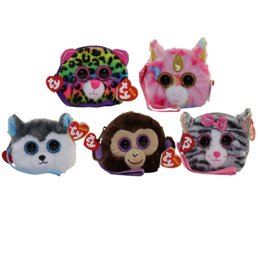 Details About Set Of 5 Ty Gear Beanie Boos Wristlet Fantasia