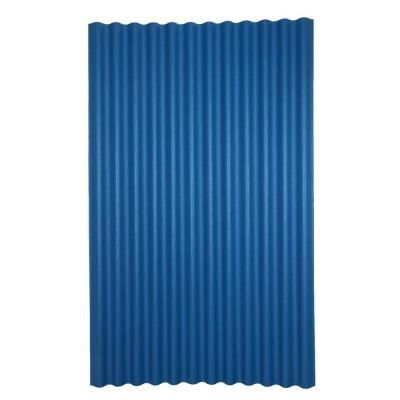 Ondura 6 Ft 7 In X 4 Ft Asphalt Corrugated Roof Panel In Blue 155 The Home Depot Roof Panels Corrugated Metal Roof Corrugated Roofing