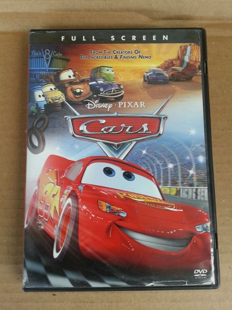 Cars Disney Pixar DVD Full Screen Single Disc 2006
