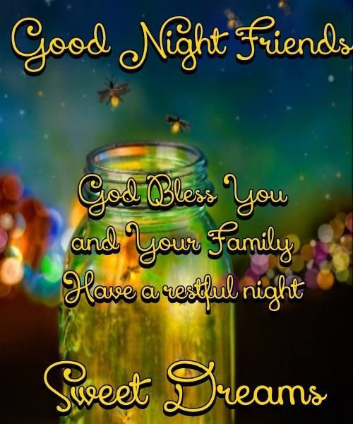 Image result for good night friends quotes