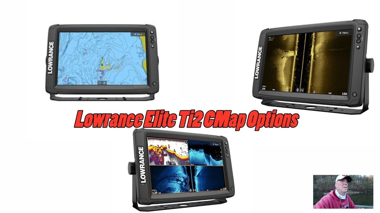 Lowrance Elite Ti2 CMAP mapping options that are built in