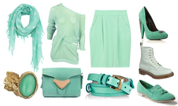 Mint is in for spring.