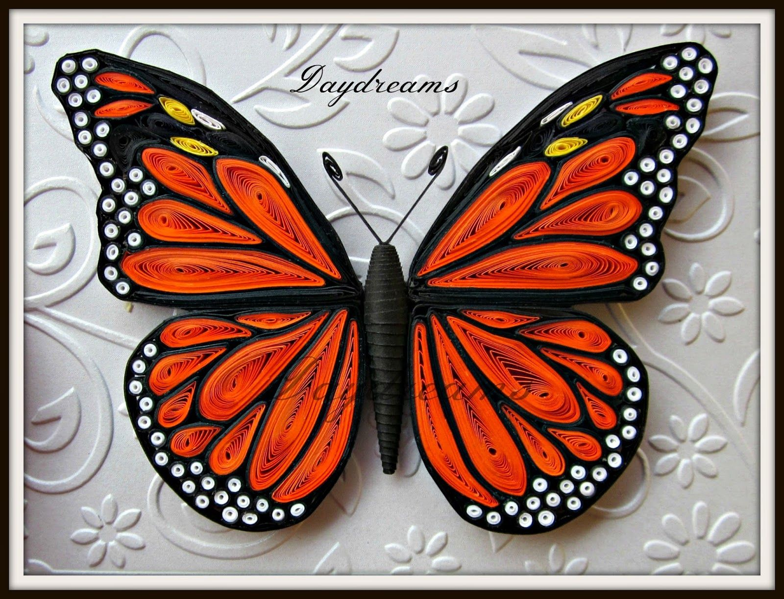 Photo of DAYDREAMS: Quilled butterflies.