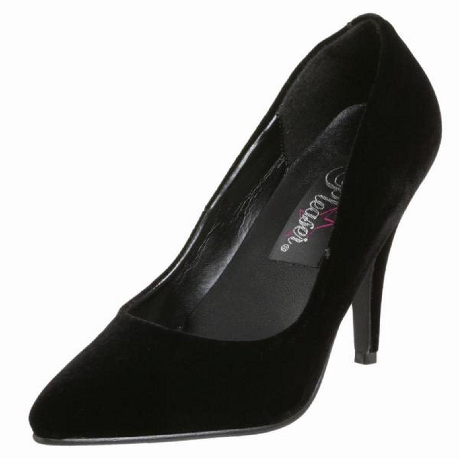 schwarz Velvet Velvet schwarz High Heel Pointed Toe Vanity Classic Pumps Damenschuhe baf664