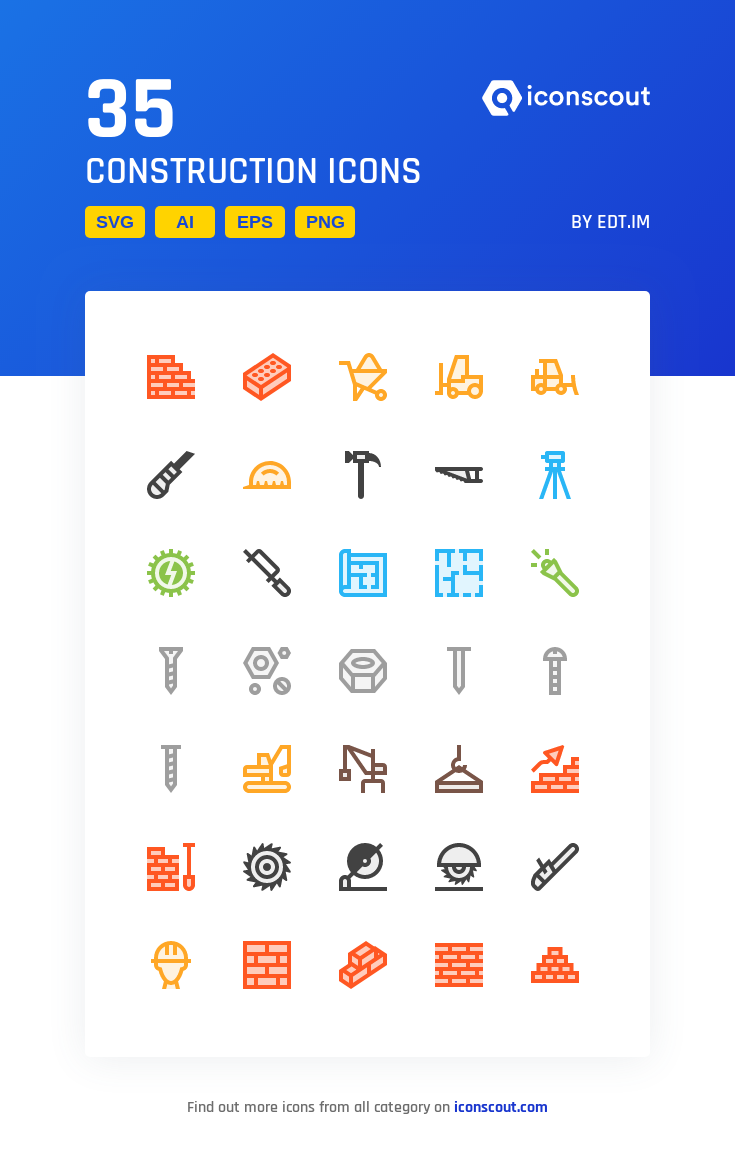 Download Construction Icon Pack Available In Svg Png Eps Ai Icon Fonts In 2021 Icon Icon Pack Icon Font