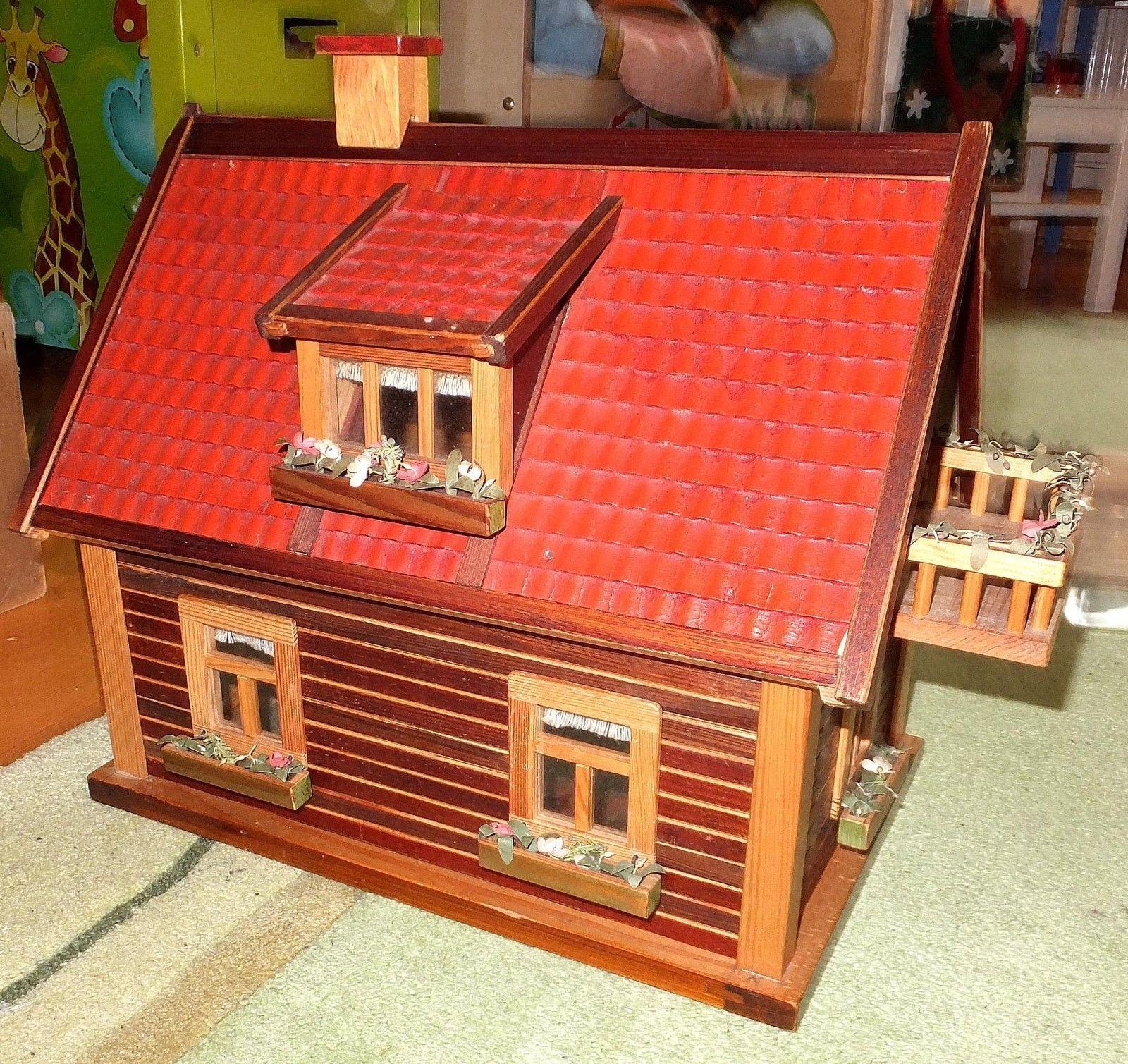 Puppenhaus Um 1940 138 Teile Puppe Haus Holzspielzeug
