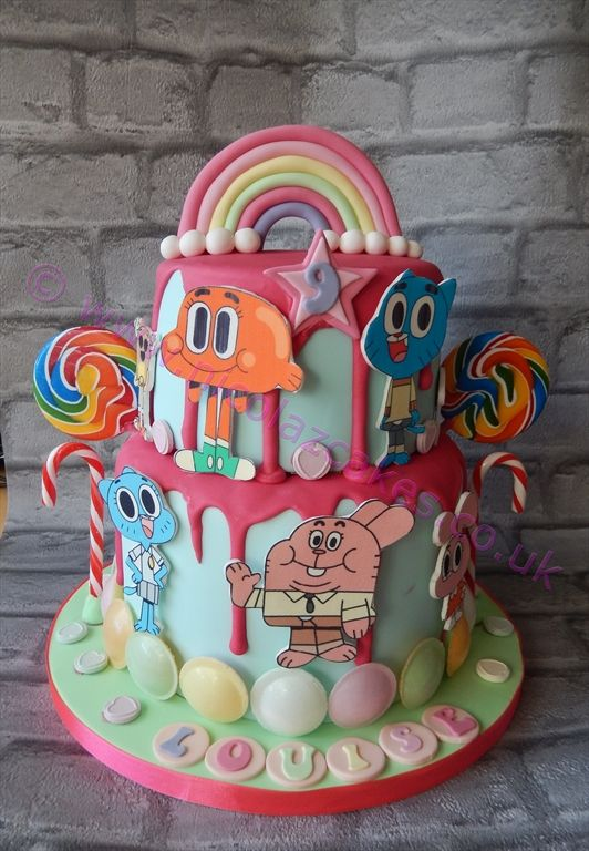 Amazing World Of Gumball Birthday Cake Made By Nicolaz