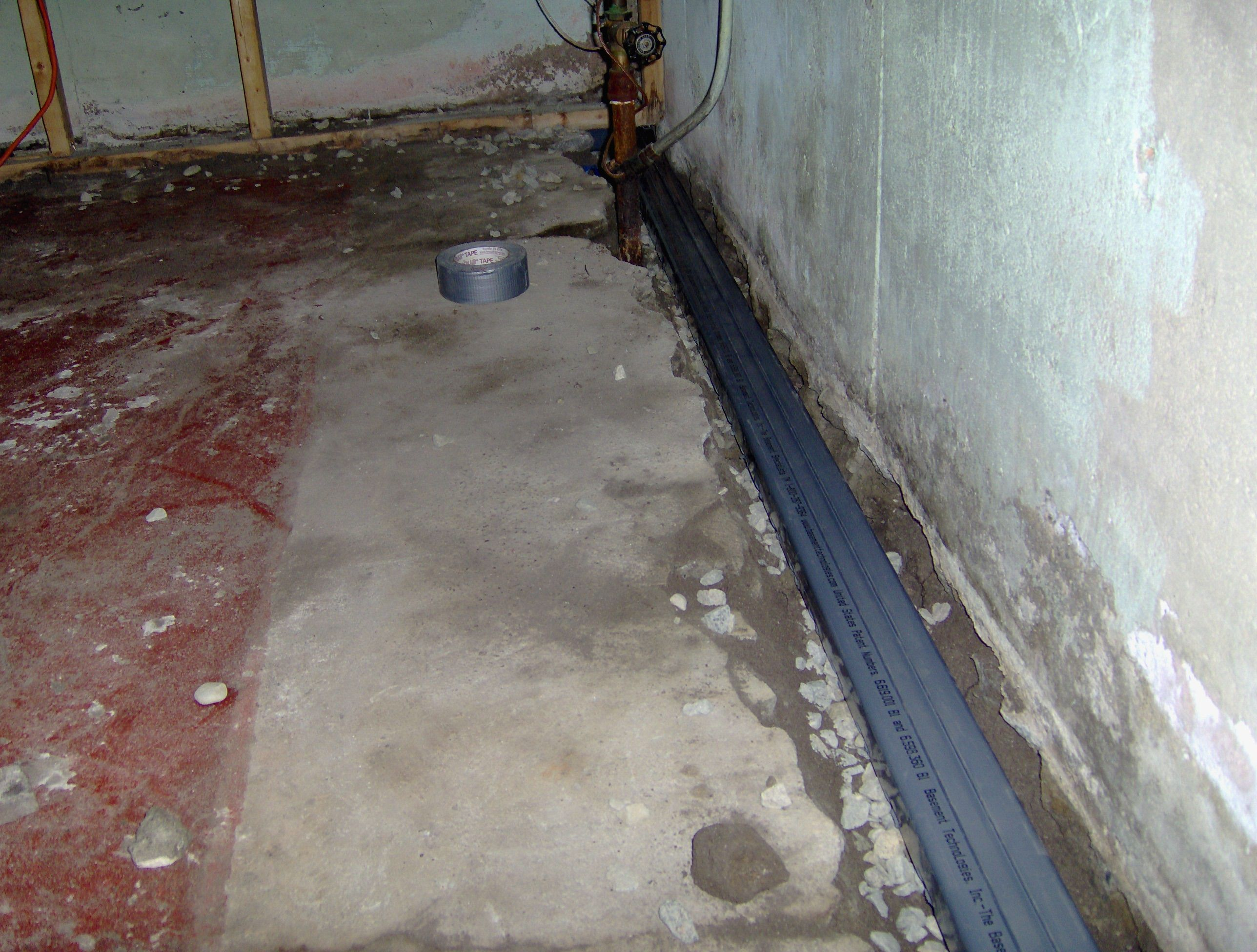 Water Trek Product Being Installed For More Basement Waterproofing Products Visit Www Basementtechnologies Com Installation Water Trek