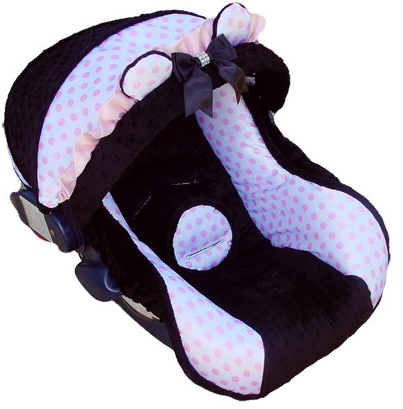 Baby Car Seat Covers Polka Dotted Infant Car Seat