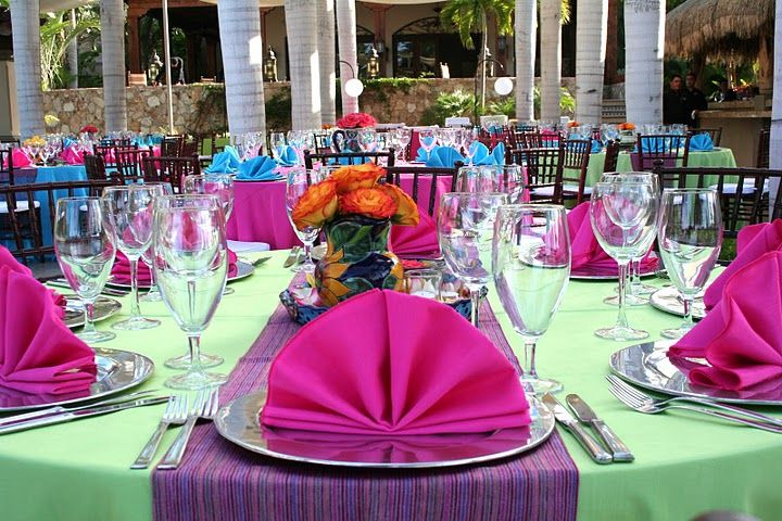 Caribbean Rehearsal Dinner Theme: Elegant Mexican Party Decorations