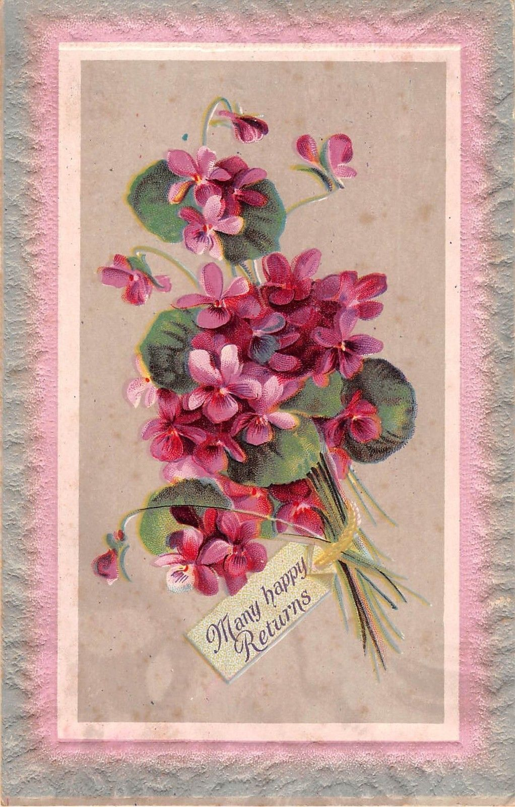Hereus a wonderful old birthday postcard of a bouquet of lovely