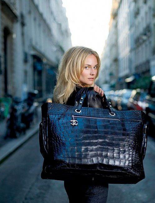 d3bc6dcea7de Chanel Paris-Biarritz large crocodile tote | Goes with the dress