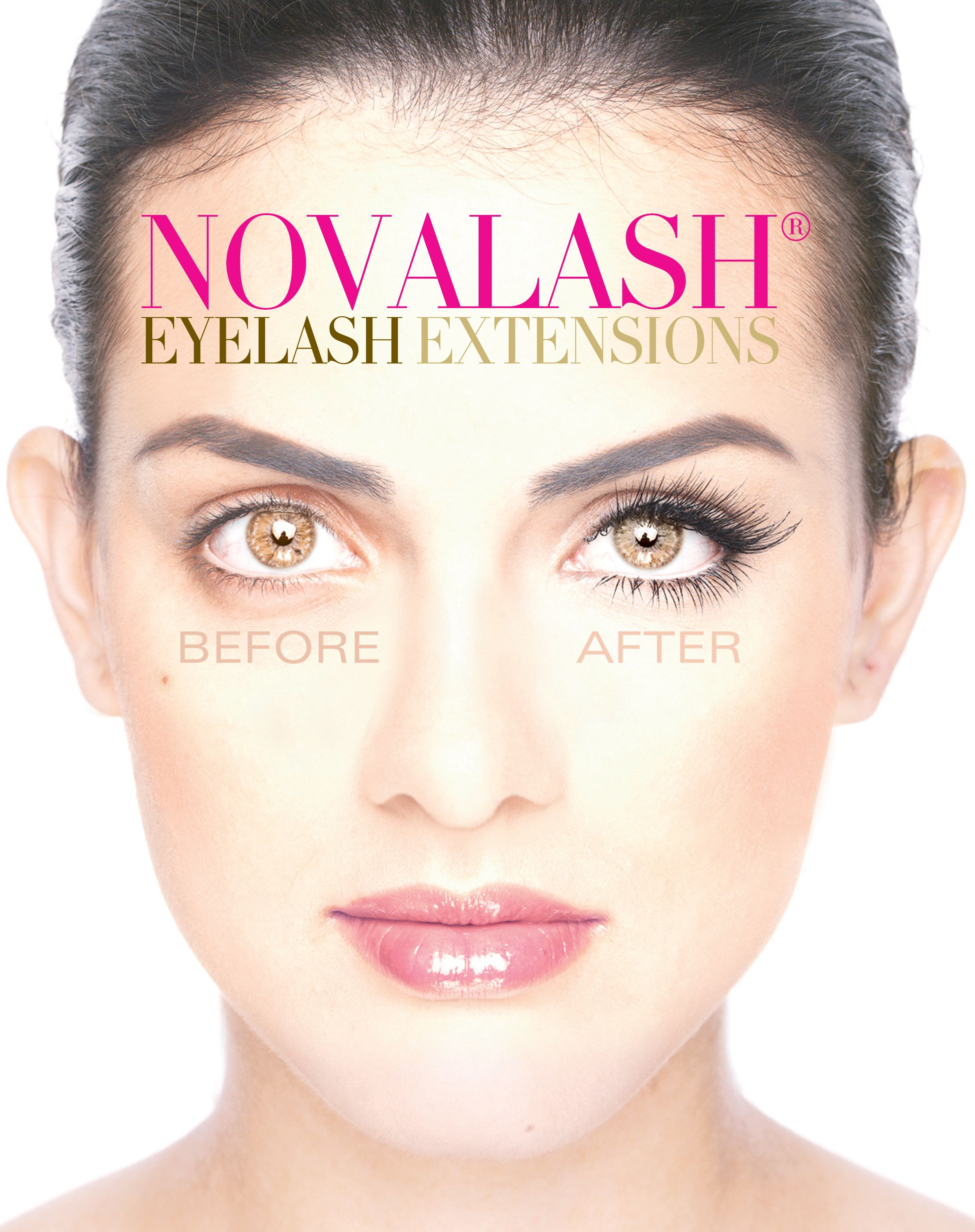 Novalash Eyelash Extensions Are Meticulously Applied Lash By Lash