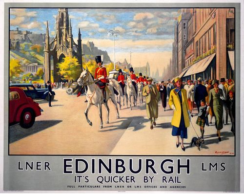 Edinburgh Castle Scotland LNER LMS Railway Quality Fridge Magnet