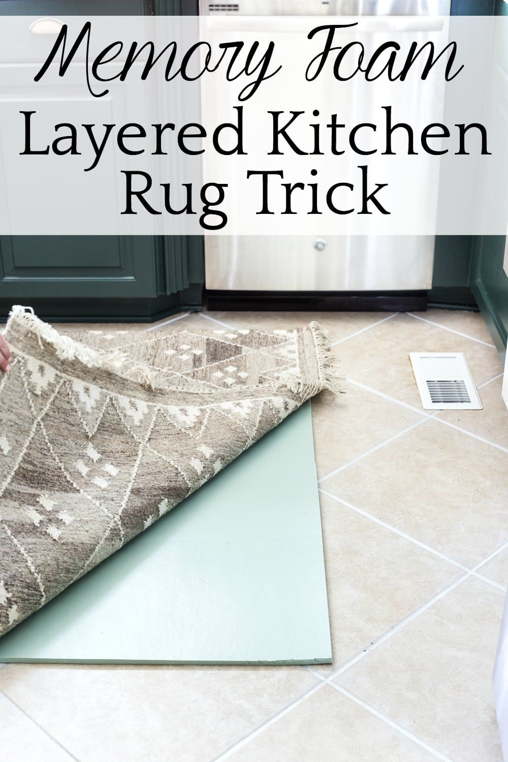 memory foam kitchen rug to go layered and tile grout refresh tips how cheaply easily add comfort your floor with a kitchenfloor kitchenrug