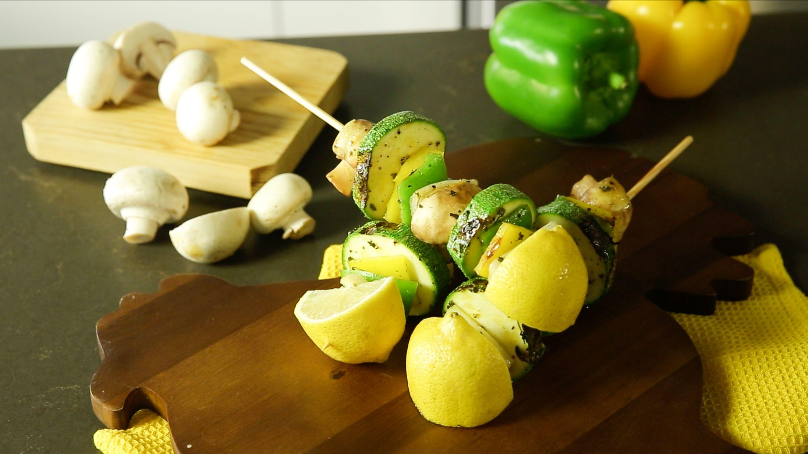 Brocheta de Verduras a la Plancha y Limón