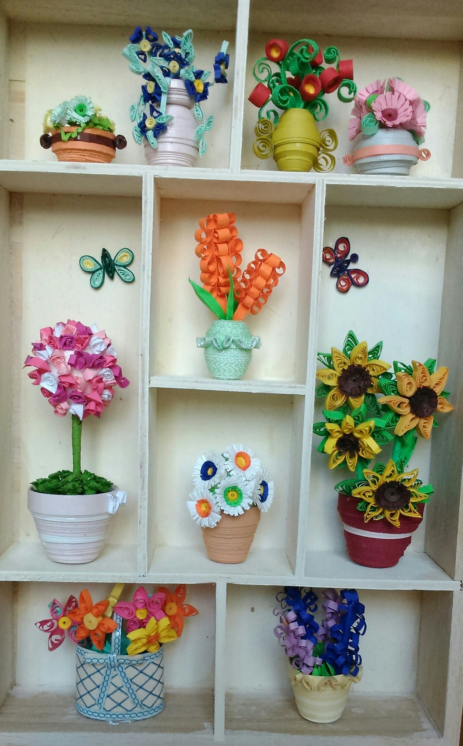 3d Flower Pots Quilling Miniatures 1 Pinterest Quilling