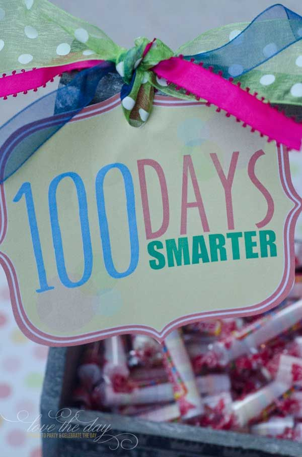 picture regarding 100 Days Smarter Printable referred to as 100 Times Of Higher education Absolutely free PRINTABLE via 100th Working day of College or university