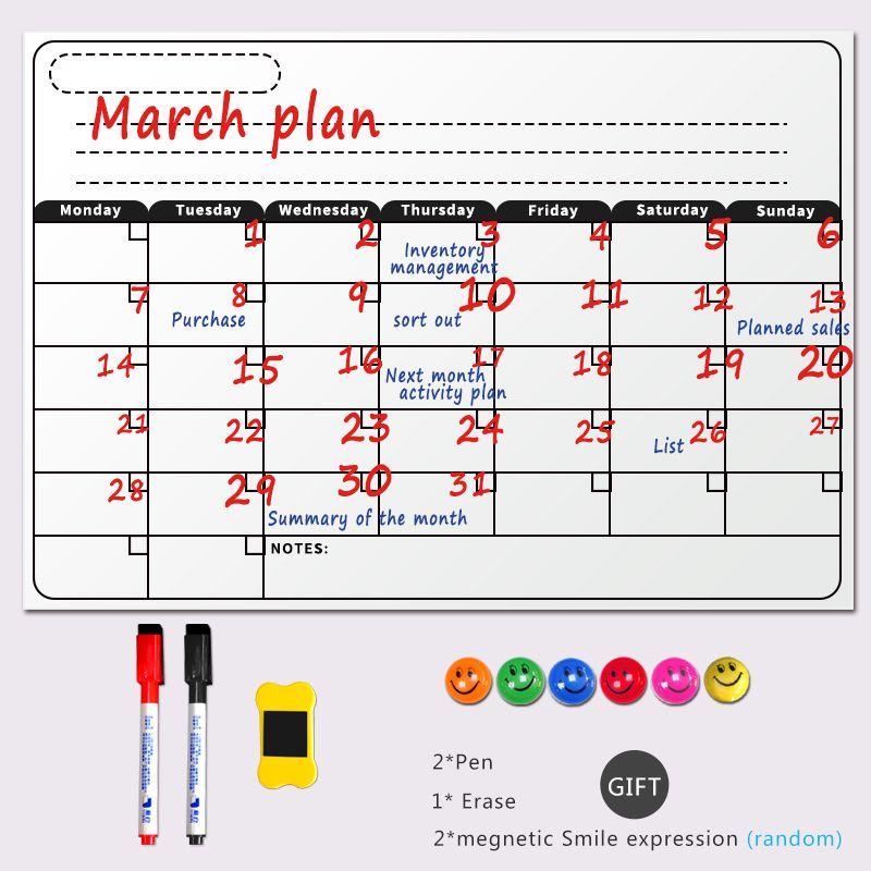 Excepcional Enmarcado Calendario De Borrado En Seco Molde - Ideas de ...
