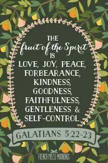 Galtians 5:22-23