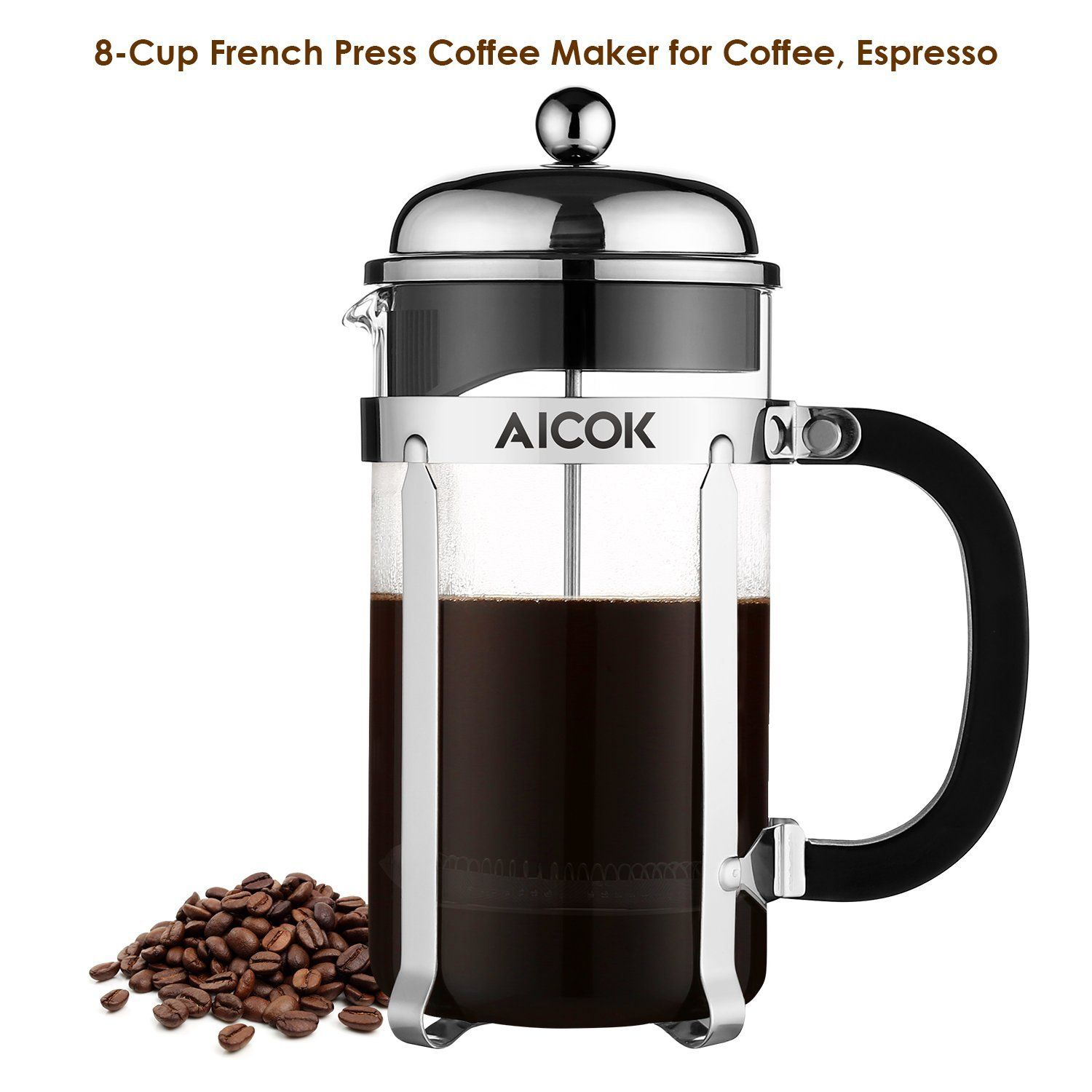 Amazon Com Aicok French Press Coffee And Tea Maker Glass