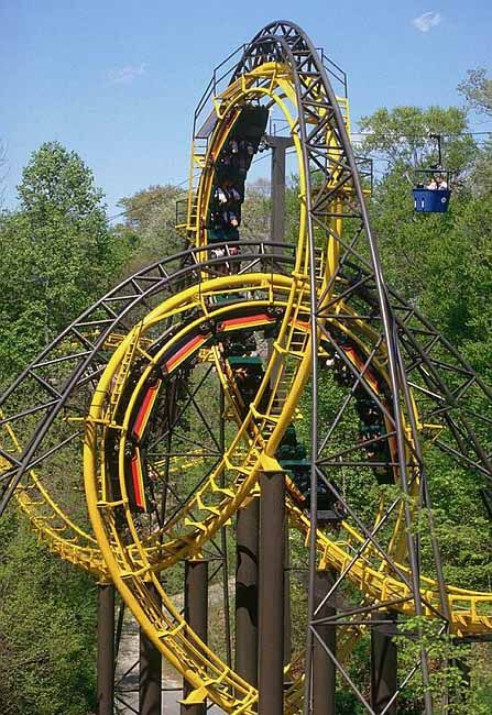 Busch Gardens Williamsburg Loch Ness Monster Roller Coaster Great Ride Places Visited In