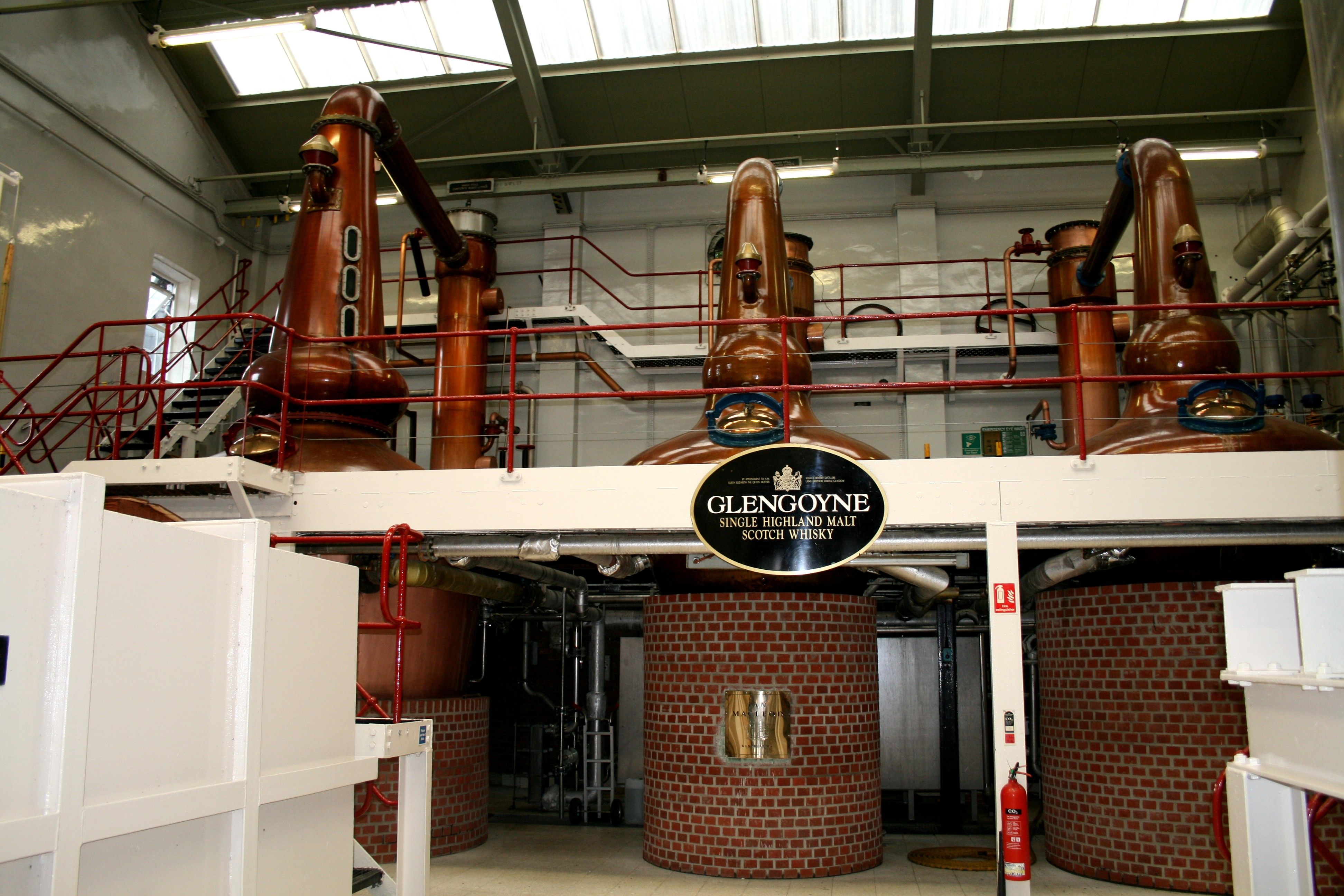 Our Beautiful Copper Stills! Where we distill slower than any other distiller to prolong flavour & create sweet, concentrated aromas & flavours that define Glengoyne.