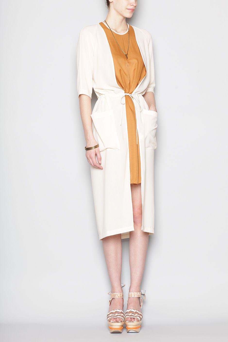 Henrik Vibskov Vero Dress (Mustard/Off White)