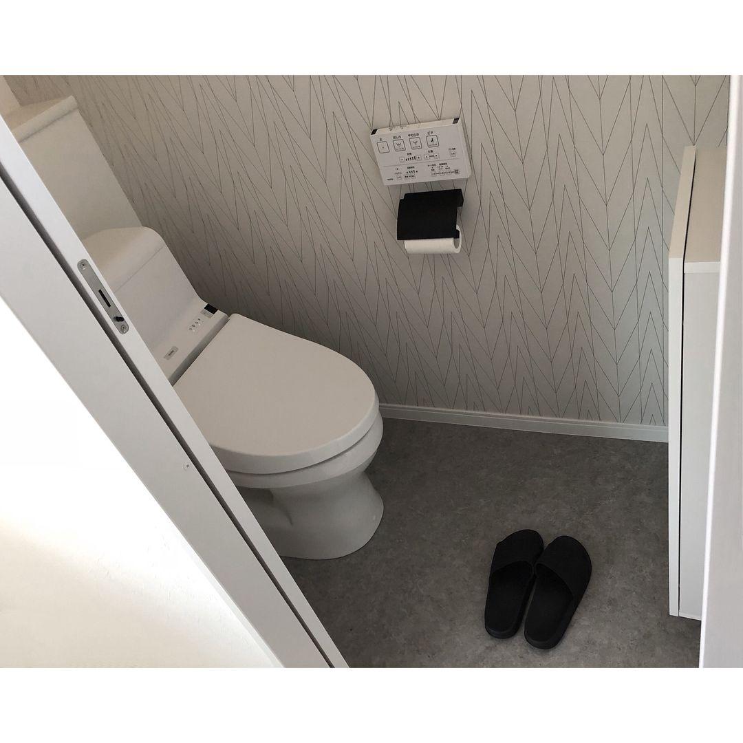 こんにちは 2階トイレ が見たいと リクエストをいただいたので 何の変哲も無い 標準トイレです 笑 しかも狭すぎて写真に収まってくれなくて 頑張って撮ってみましたが こんな感じで分かりますかね ペーパーホルダー は サンワカンパニー 天井クロスは