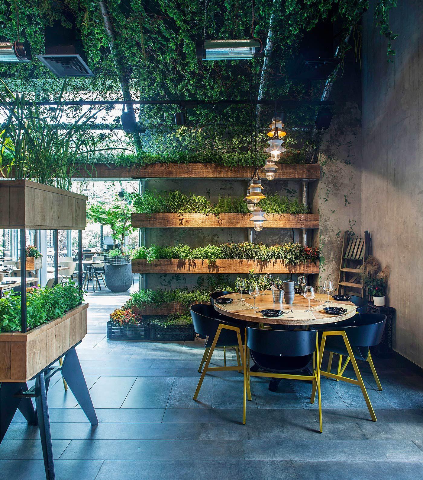 Segev Kitchen Garden Restaurant in Israel | Indoor Garden Ideas ...