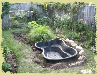 Best tips for starting a small garden pond garden ponds for Plastic garden fish ponds